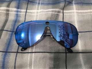Ray Ban Blaze Shooter Violet/Blue Mirror Aviator Sunglasses