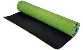 Yoga Mat TPE Dual Green plus free yoga mat towel worth $38