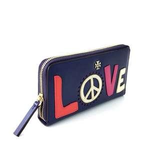 Tory Burch Love Peace Zip Wallet