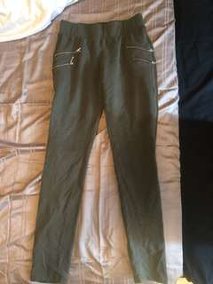 Forever 21 jeggings olive green