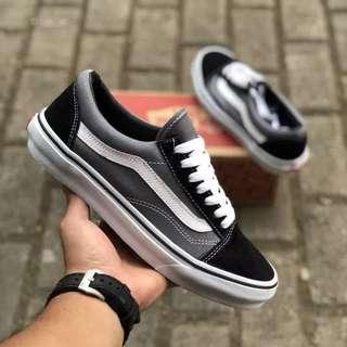 Sepatu vans old skool classic blackpewter greywhite BNIB ORIGINAL