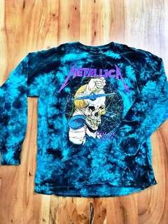 NEW Urban Outfitters - Men's Metallica Tie-Dye Long Sleeve Shirt