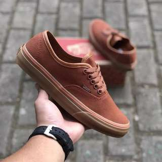 Sepatu Vans Authentic CnL 10 oz Brown Gum BNIB ORIGINAL