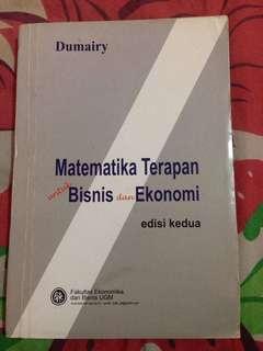Matematika terapan edisi kedua dumairy