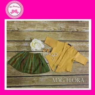 👭RACIAL HARMONY DAY! Instock Babies - Kids Yellow Kebaya Set