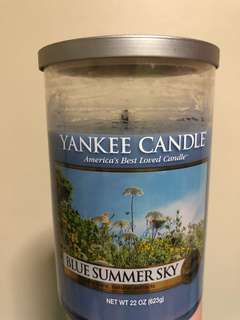 Blue summer sky large 2-wick tumbler candle