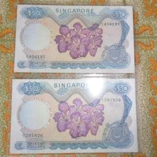 2x SINGAPORE $50 ORCHID LKS (1)