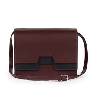 Vivienne Westwood burgundy leather bag