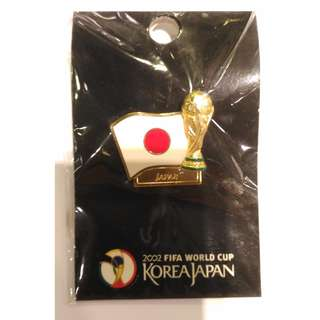 2002日韓 世界杯 盃 日本 FIFA 足球 徽章 襟章 2002 Korea/Japan FIFA World Cup Football Japan Pin