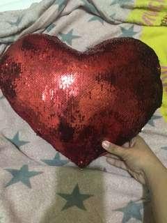 Mermaid Heart Shape Pillow