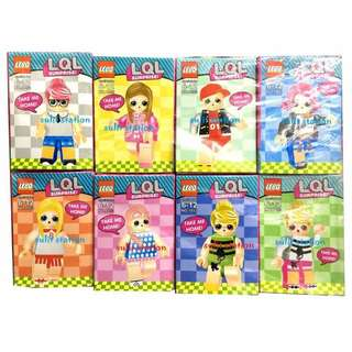 LOL SURPRISE GIRLS LEGO like MINIFIGURES TOYS FIGURE PARTY GIVEAWAY SOUVENIR