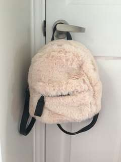 Fuzzy Mini Backpack