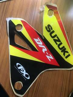 DRZ stock yellow sticker/decal