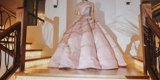 Blush of pink debut gown with stones