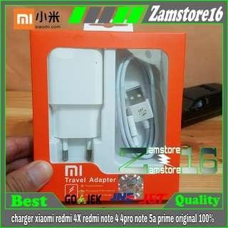 charger xiaomi redmi 4x note 4 4pro note 5a prime ori 100%