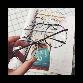 🚚 文青細框圓眼鏡