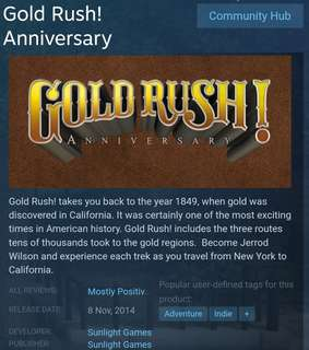 [Clearance Sale] Steam - Gold Rush! Anniversary