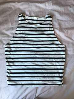 striped halter tank top