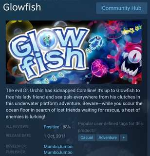 [Clearance Sale] Steam - Glow Fish Game
