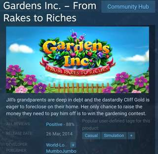 [Clearance Sale] Steam - Garden Inc. - From Rake to Riches Game
