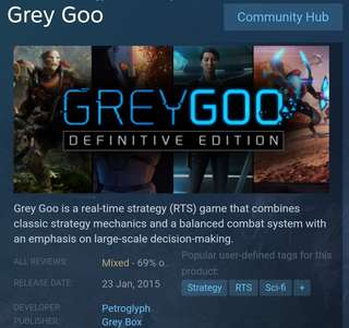 [Clearance Sale] Steam - Grey Goo: Definitive Edition Game