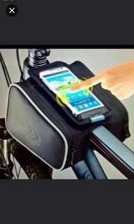 Roswheel double frame bag for bicycle/bike/MTB with phone holder