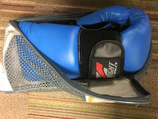 REPRICED! Fight Boxing Gloves Blue Size 10oz