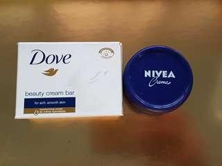NIVEA Moisturizer Crème (150ml) + FREE Dove