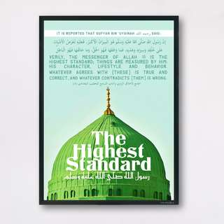 Islamic Wall Art Prints - Prophet Nabi Muhammad ﷺ