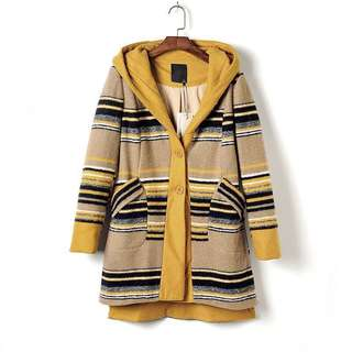 Winter Wool Coat Cardigan