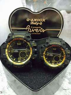 Couple Watch w/ heart box