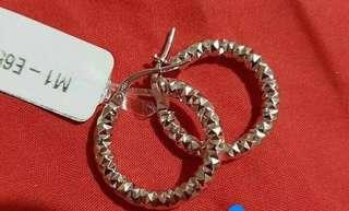 14k italian white gold earrings