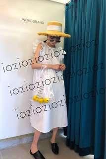 ioz 原創 法式清新俏皮小飛袖連身裙