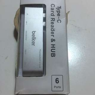Belker type-C card reader & hub (A113)
