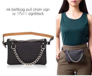 Michael Kors Belt Bag warna Black dan Brown