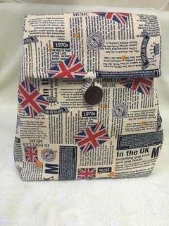 英倫風結實帆布背包「泰國製」