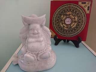 Buddha and Caisheng Statue