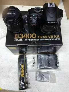🚚 Brandnew camera dslr-nikond3400