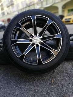 Venerdi 15 inch sports rim myvi tyre 70%