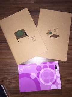 Note Books (x3)