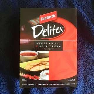 🚚 澳洲必吃零食預購-Fantastic Delites  辣味酸奶口味米餅(非油炸) 100g