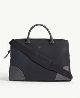 TED BAKER Nubuck leather document bag (two colour)