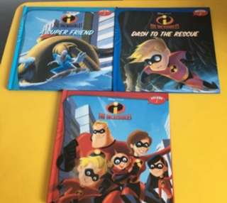 Disney Pixar The Incredible a Story time Collection Story Book For Boys Volume 1 To 3 Full Set
