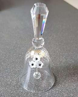 74 Swarovski Silver Crystal - Small Dinner Bell