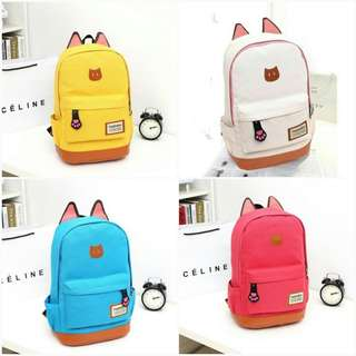 🐘Backpack with ears design 6 colors