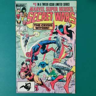 Marvel Super Heroes Secret Wars No.3 comic