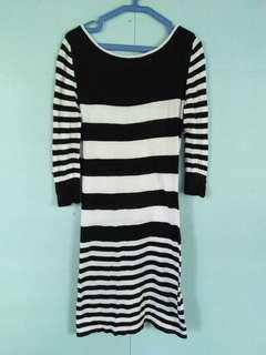 Black& White Striped dress