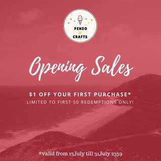 Opening sales discount