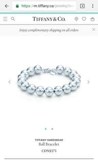 Authentic Tiffany & Co. Bead Bracelet