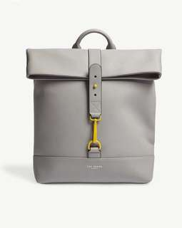 TED BAKER Brazila rubber-look backpack (grey or blue)